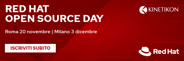 Red Hat Open Source Day 2019 - KInetikon partecipa a Milano e a Roma